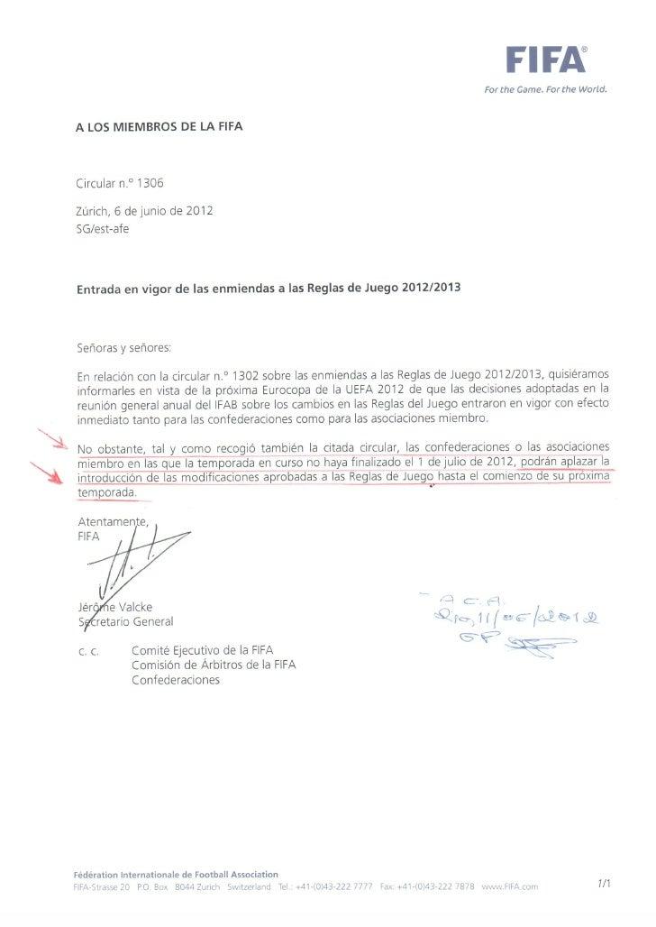 Emendasasregrasdejogo20122013 ref-circularfifa1302-120628104537-phpapp02