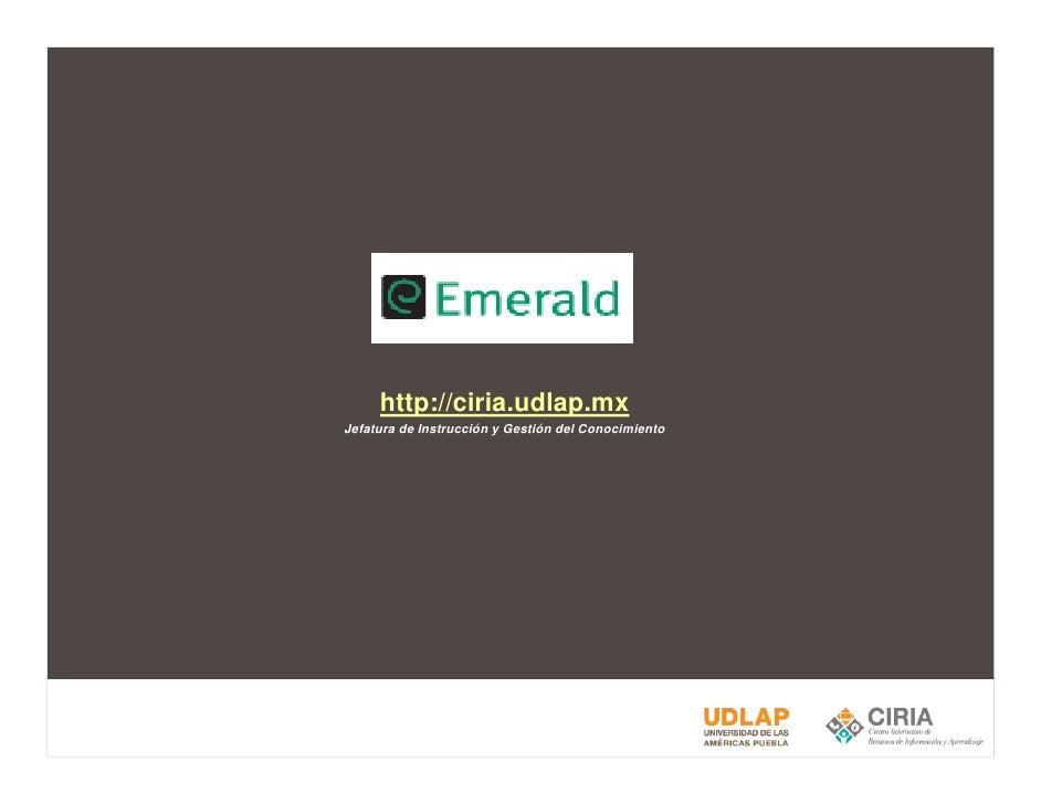 http://ciria.udlap.mx Jefatura de Instrucción y Gestión del Conocimiento