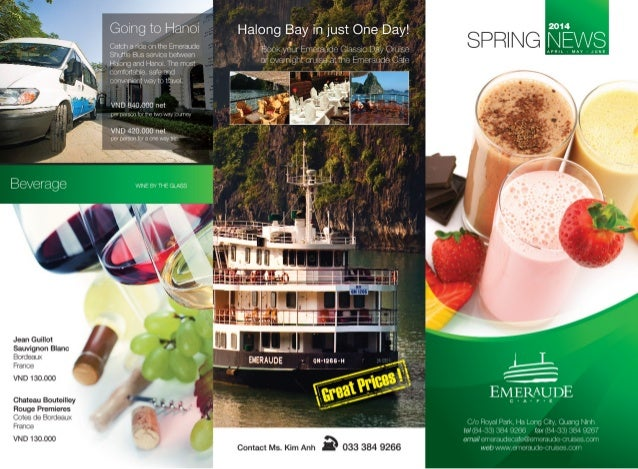 Emeraude Classic Cruises' Emeraude Cafe Spring 2014 News