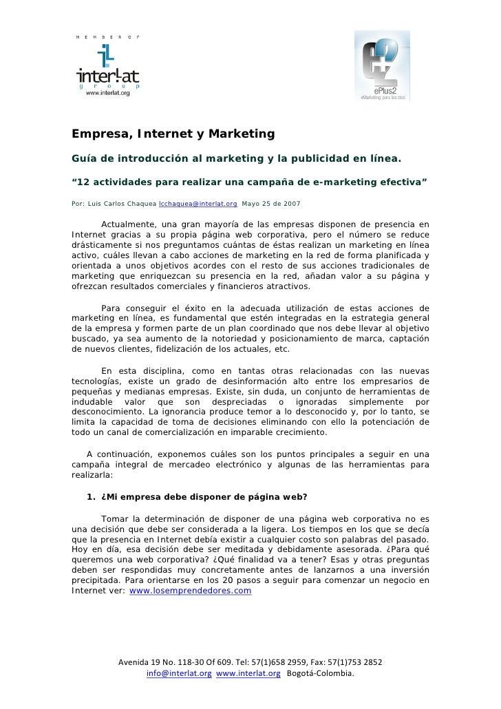 Empresa, Int...