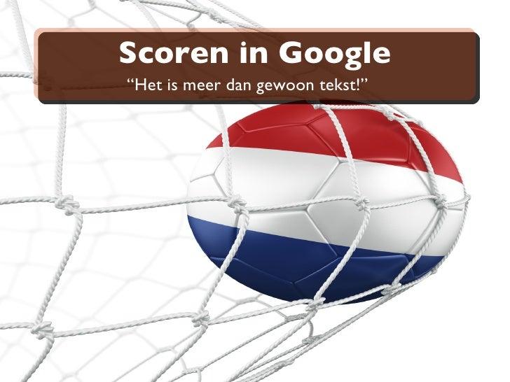 Scoren in Google <ul>&l