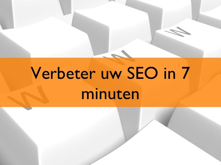 Emerce Eday - SEO in 7 minuten