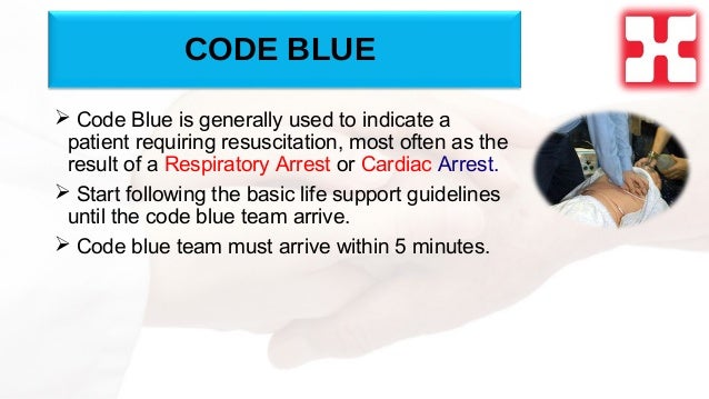 Code Blue Resuscitation Code Blue  Code Blue is