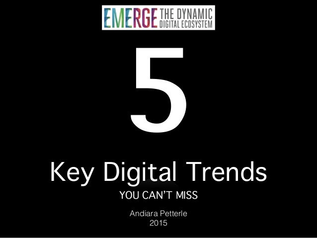 5 Key Digital Trends You Can't Miss - 2014