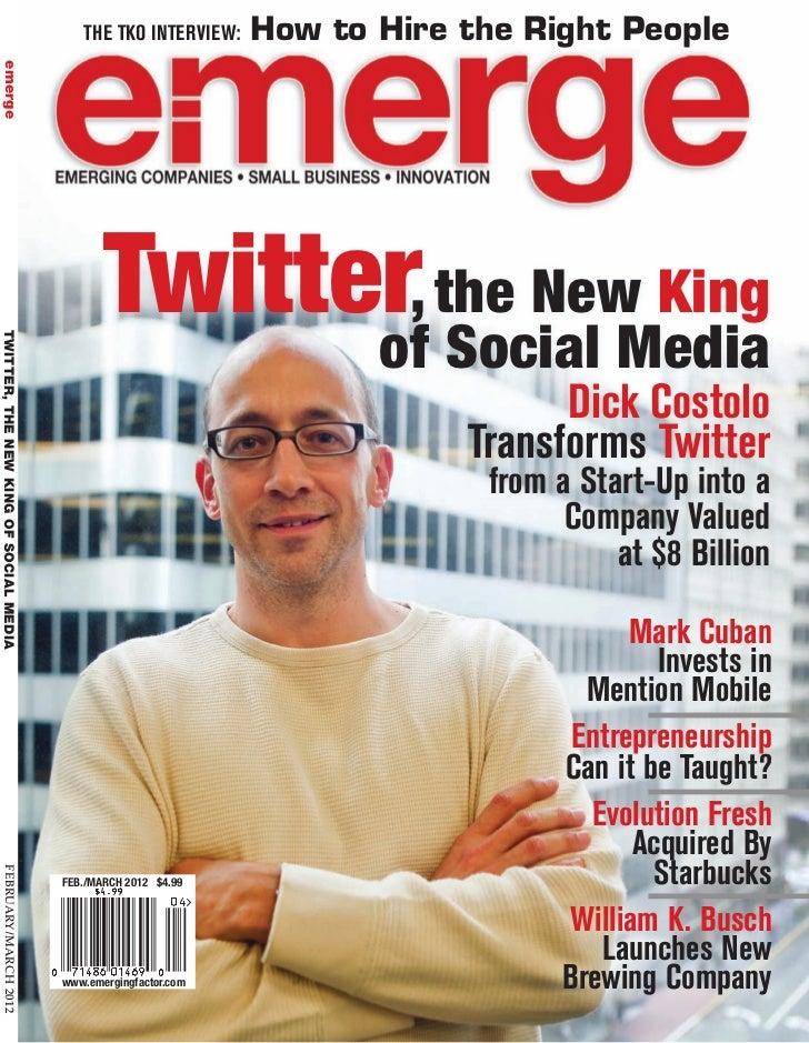 Edward Cates Featured in Emerge Magazine - FEB 2012