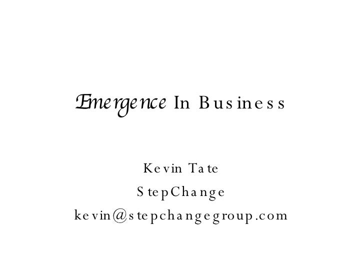 Emergence in Business by Kevin Tate