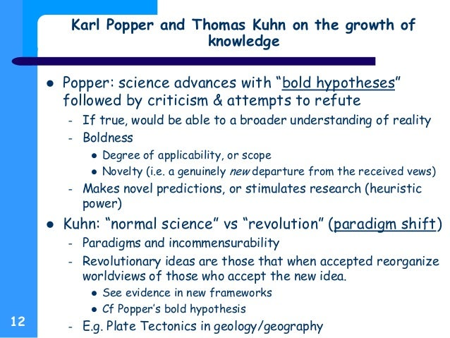 kuhn vs popper Thomas kuhn's structure of scientific revolutions has sold over a million copies in more than twenty languages and has remained one of the ten most cited academic.