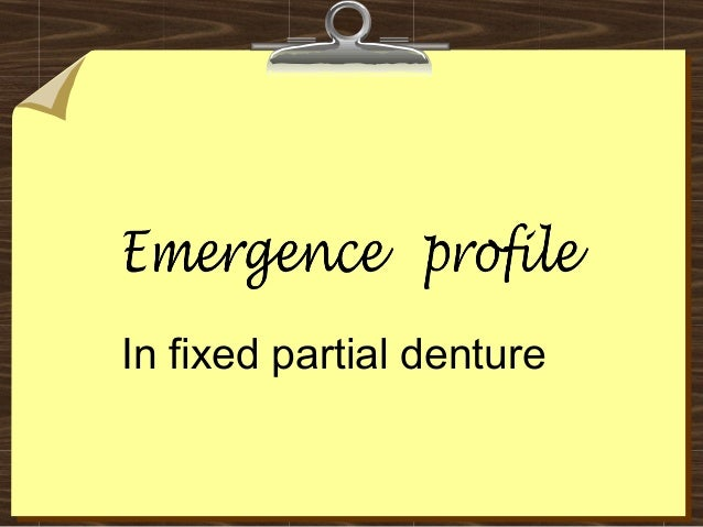 Emergence profile in fixed partial denture.