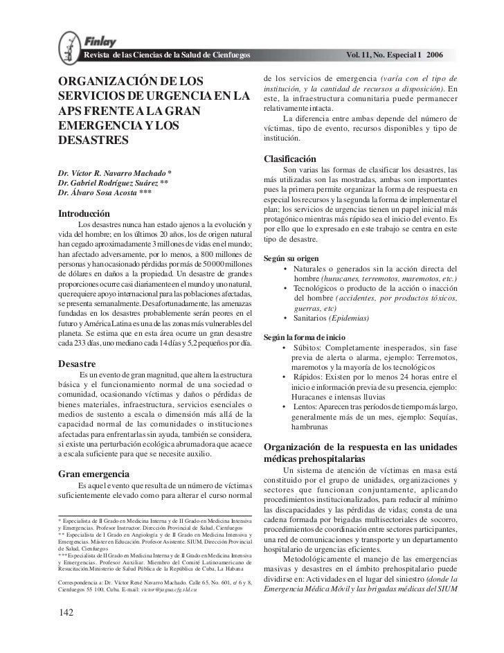 Revista de las Ciencias de la Salud de Cienfuegos                                                     Vol. 11, No. Especia...