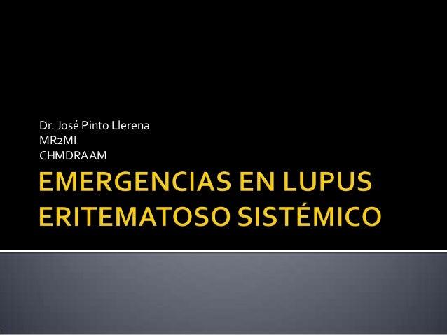 Emergencias en lupus eritematoso sistémico