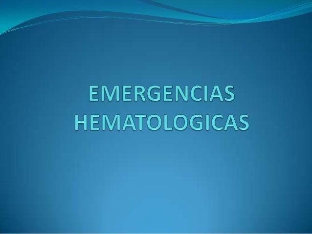 Emergencias hematologicas ok