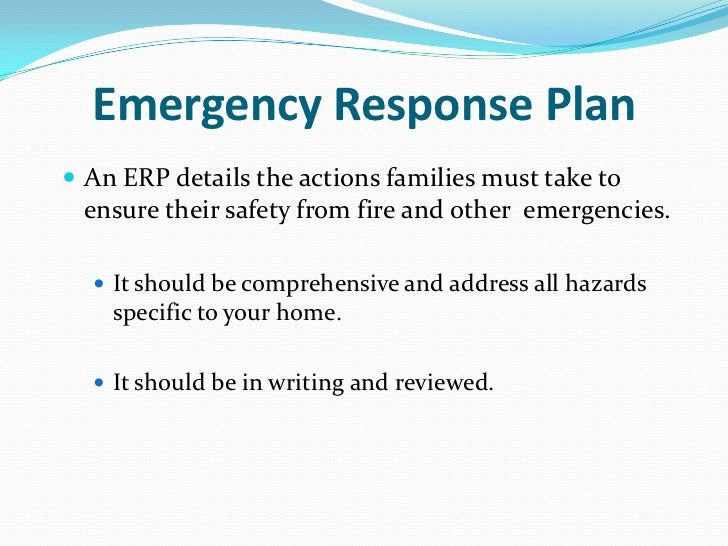 Emergency Preparedness Plan Sample What Is Emergency Response