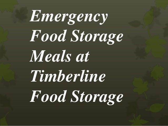 Emergency Food Storage Meals at Timberline Food Storage