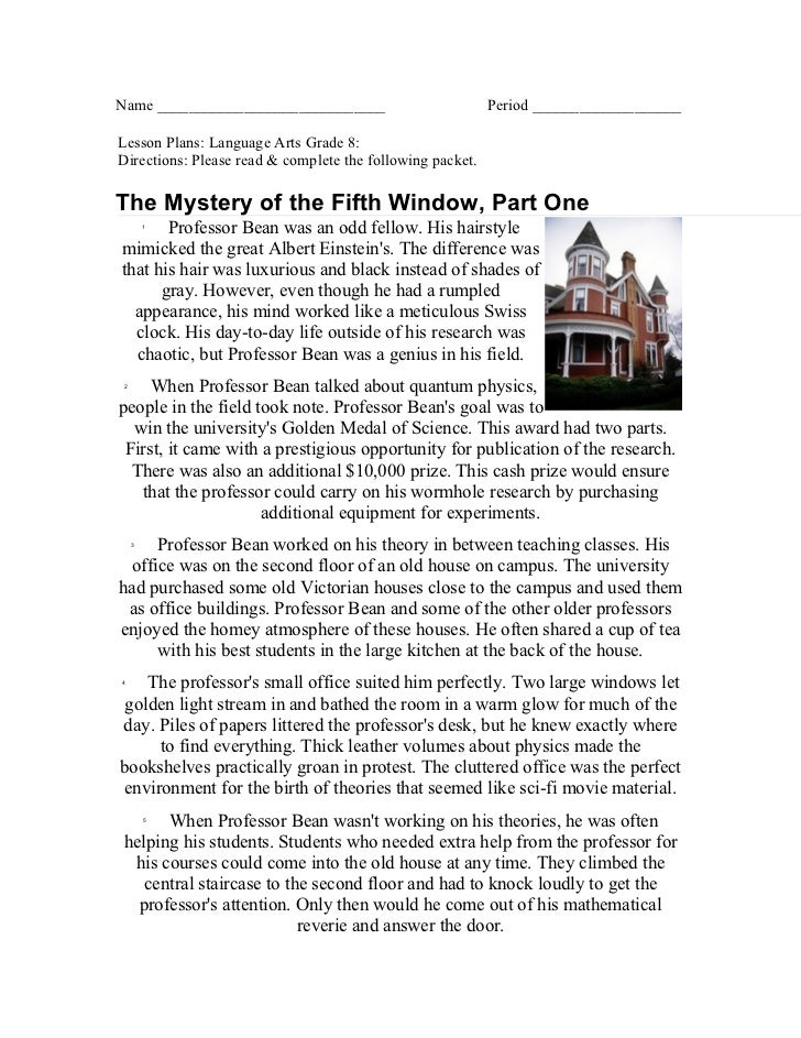 The Mystery of the Fifth Window Part One attachment