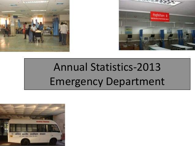 Annual Statistics-2013 Emergency Department