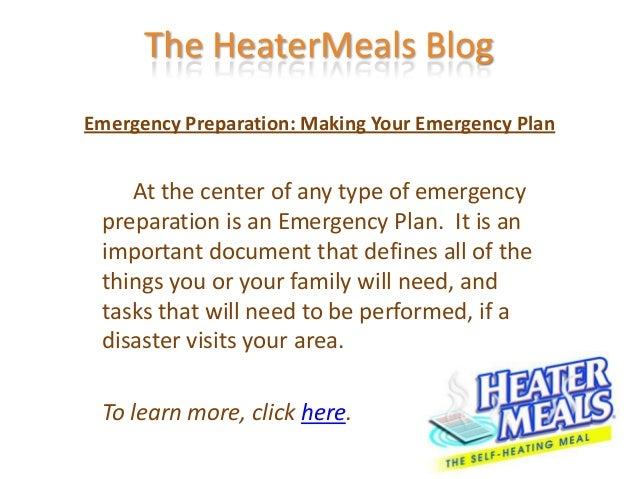 Emergency Preparation: Making Your Emergency Plan