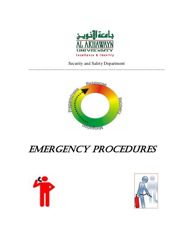Security and Safety Department ________________________________________________________________________  EMERGENCY PROCEDU...