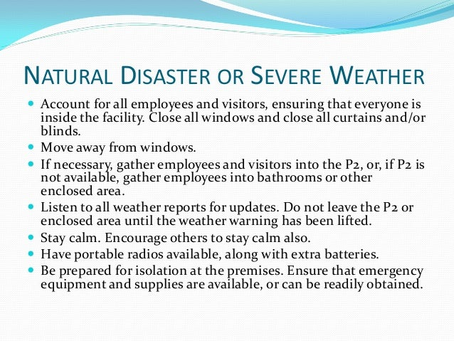 tabletop exercise means  severe weather emergency response