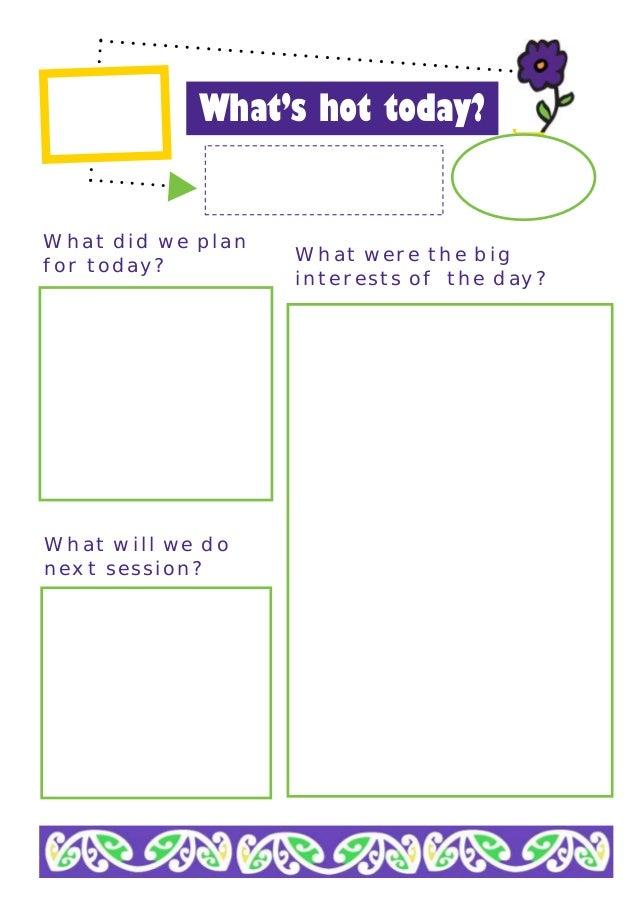 Emergent curriculum planning sheet for Emergent curriculum planning template