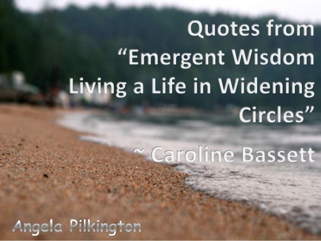 Quotes from Emergent Wisdom