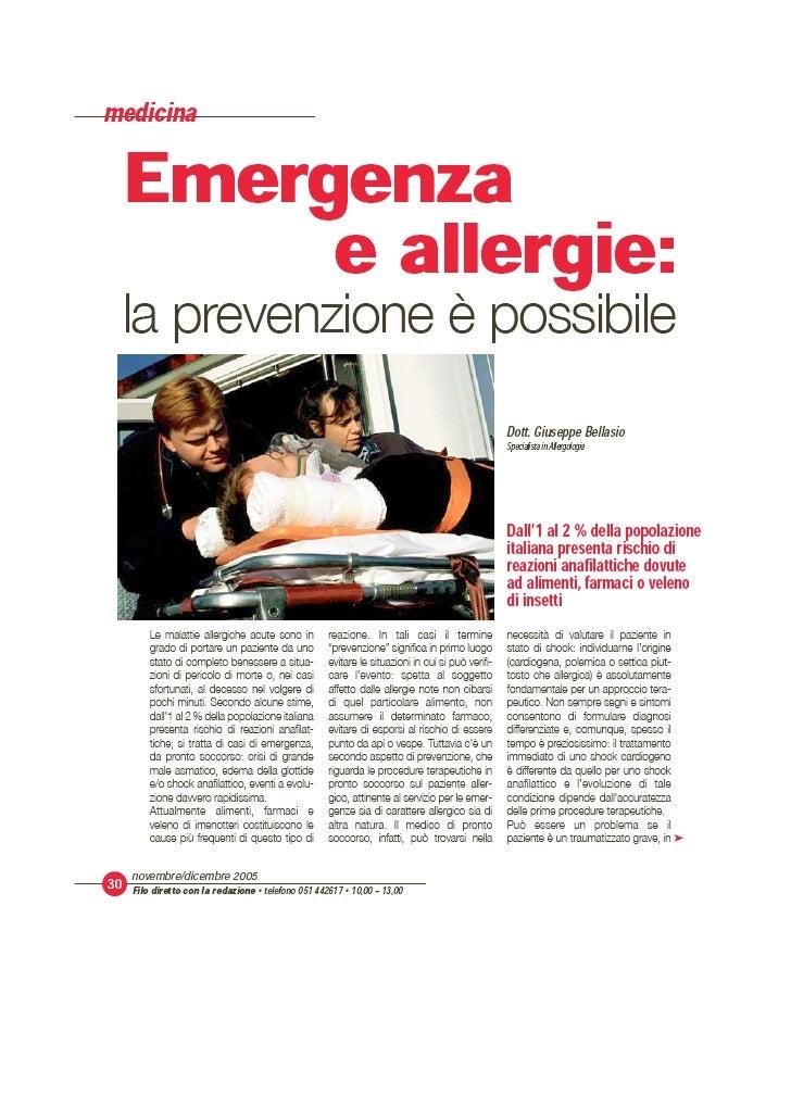 Emergenza E Allergie