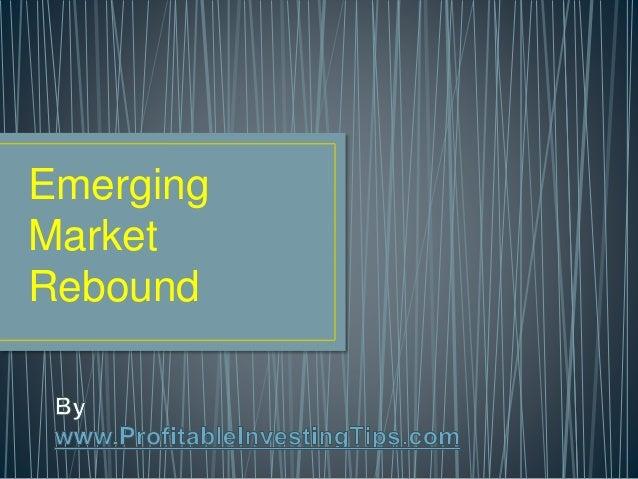 Emerging Market Rebound