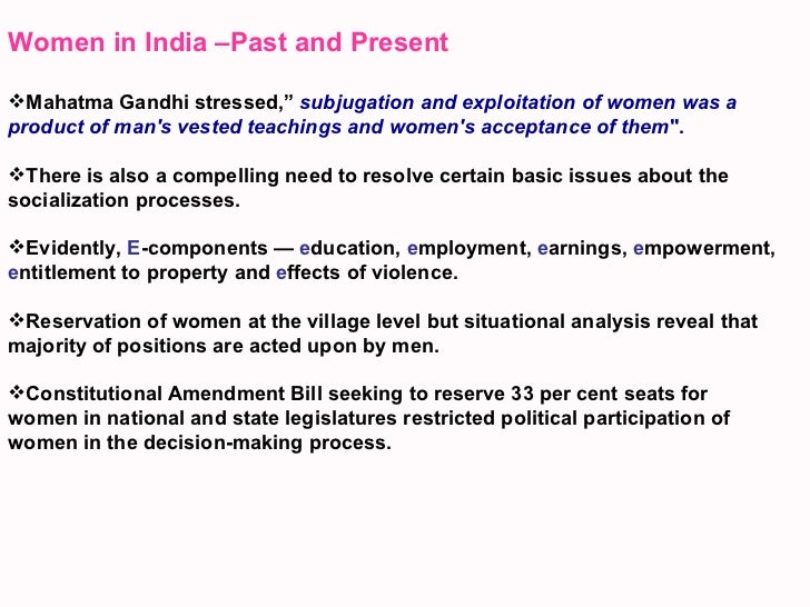 women development in india essay 06102009  essay on women empowerment 4 pages posted: 6 oct 2009  empowering women is also an indispensable tool for advancing development and reducing poverty.