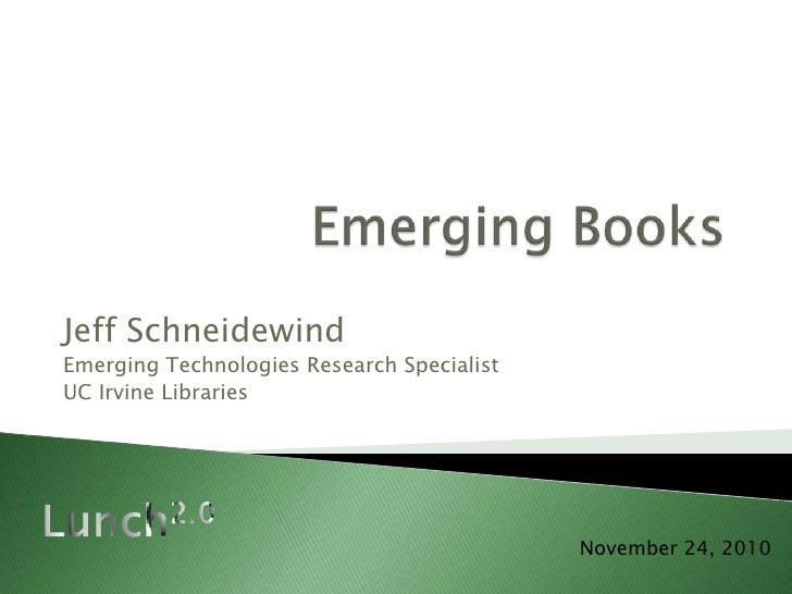 Lunch 2.0 - Emerging Books