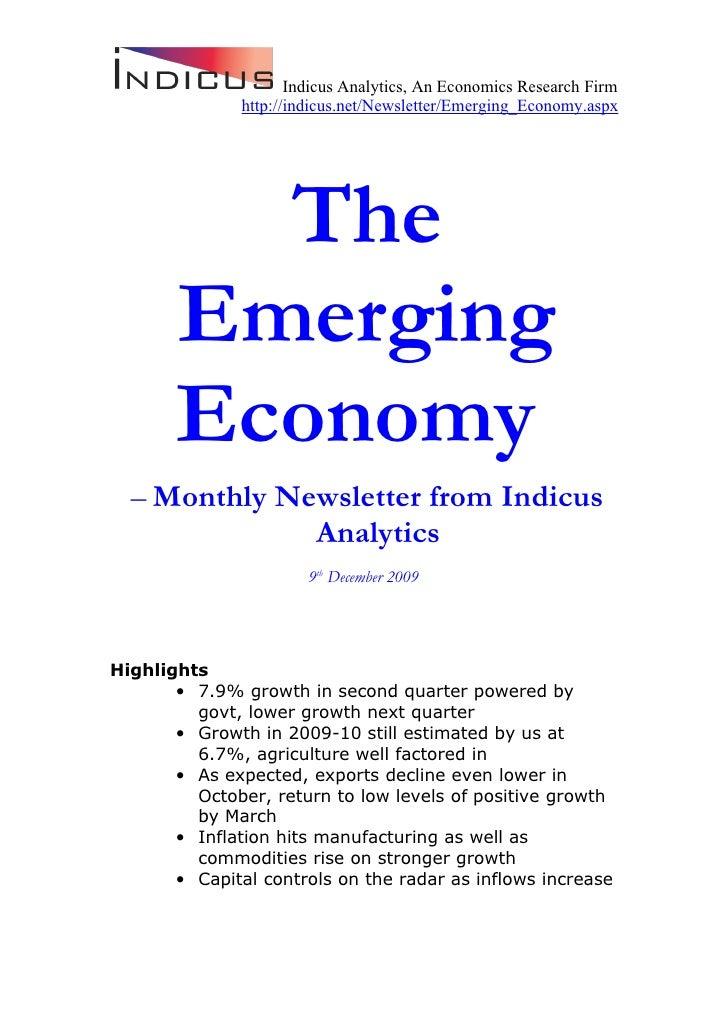The Emerging Economy December 2009