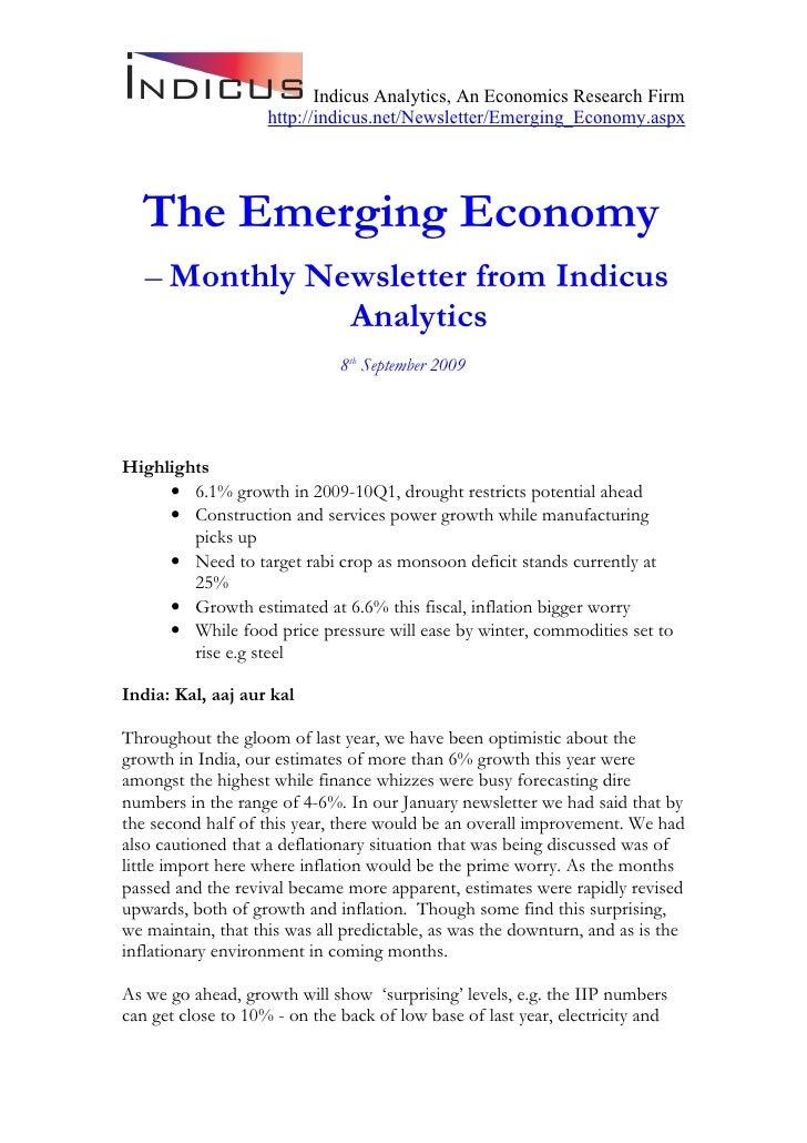 Emerging Economy September 2009