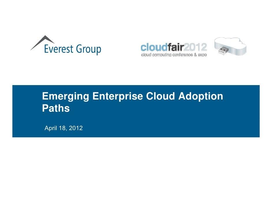 Emerging Enterprise Cloud Adoption Paths