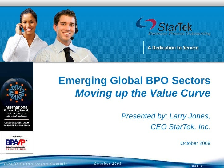 A Dedication to Service                                         Emerging Global BPO Sectors                               ...