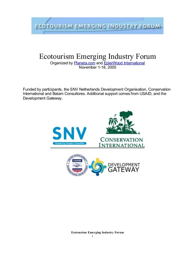 Ecotourism Emerging Industry Forum (2005)