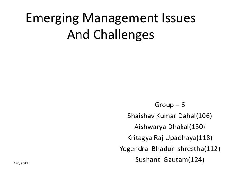 emerging issues in contemporary organization theory Stand contemporary institutions one has to know how they had  be confronting  current fashionable trends in organization theory and practice with similar.