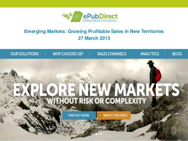 Emerging eBooks Markets Webinar