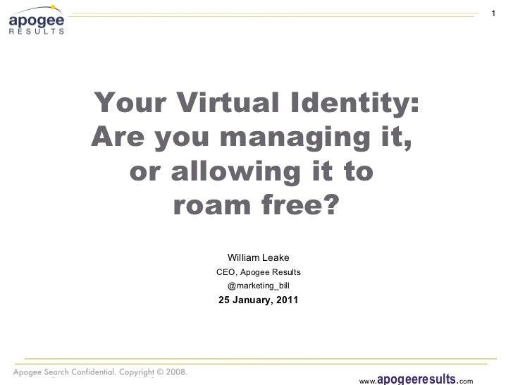 Your Virtual Identity