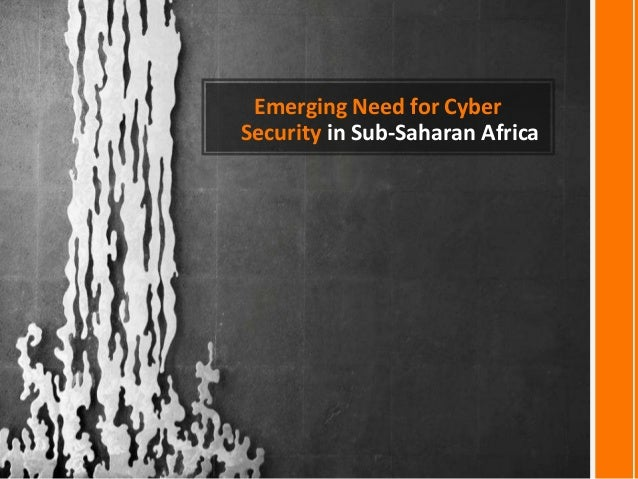 Emerging need for cyber security in sub saharan africa