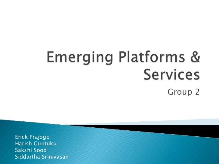 Emerging Platform - FieldMob