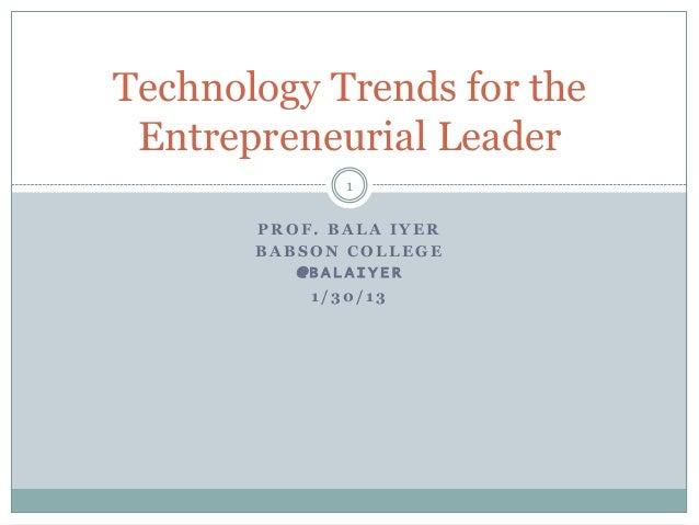 Emerging technology trends for the entrepreneur