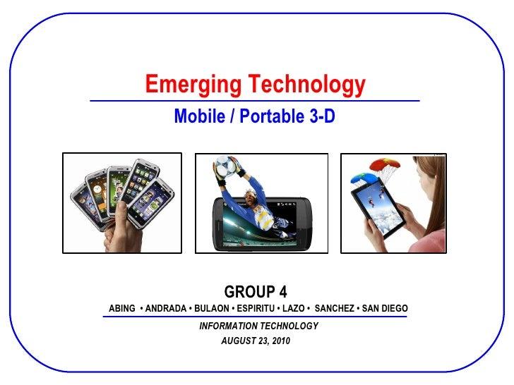 Prepared and Presented by Group 02 SPFINACC B10 December 2, 2008 Emerging Technology ABING  • ANDRADA • BULAON • ESPIRITU ...
