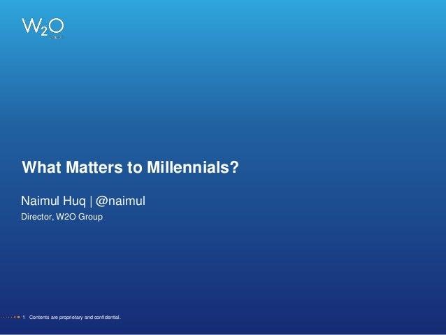 What Matters to Millennials + Bonus SXSW 2014 Insights!