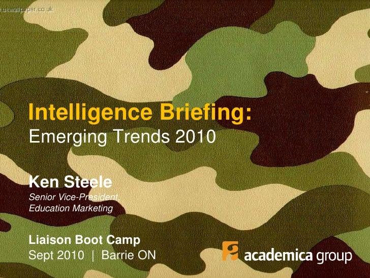 Emerging Trends 2010 - Ontario College Recruiters Boot Camp