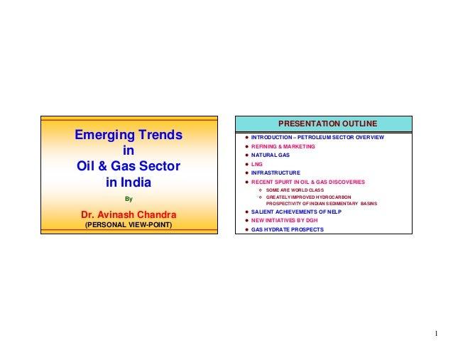 Emerging trends in oil & gas sectors in india (6 jan'04)