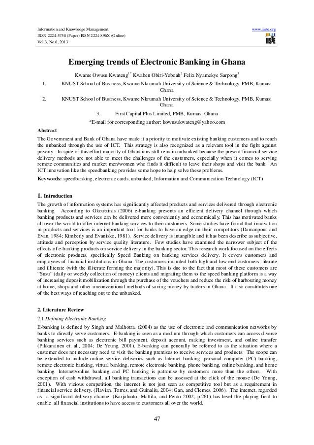 Information and Knowledge Management www.iiste.org ISSN 2224-5758 (Paper) ISSN 2224-896X (Online) Vol.3, No.6, 2013 47 Eme...