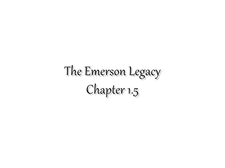 The Emerson Legacy    Chapter 1.5