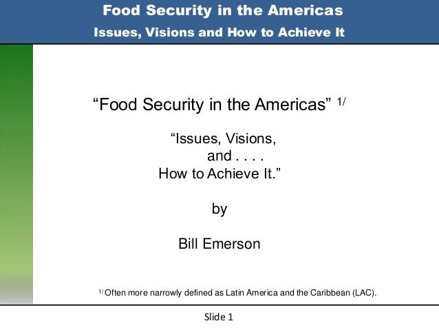 Emerson's pp food security in the americas  1800 14 jan2013