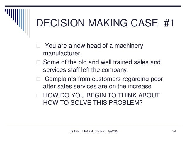 contribution of business research to decision Decision making in business is about selecting choices or  within a culture that values their contribution to evidence based decision making  the effective.