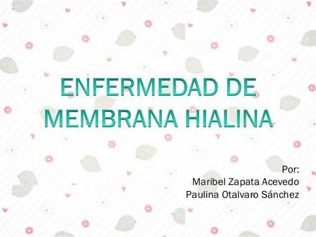 Por: Maribel Zapata AcevedoPaulina Otalvaro Sánchez