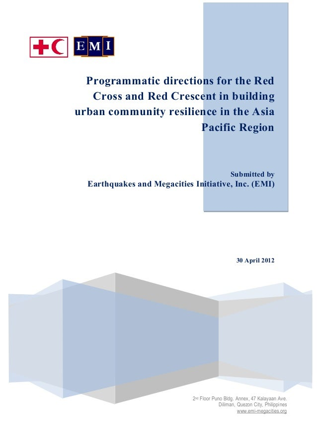 EMI & IFRC study on Urban Resilience in Asia and Pacific