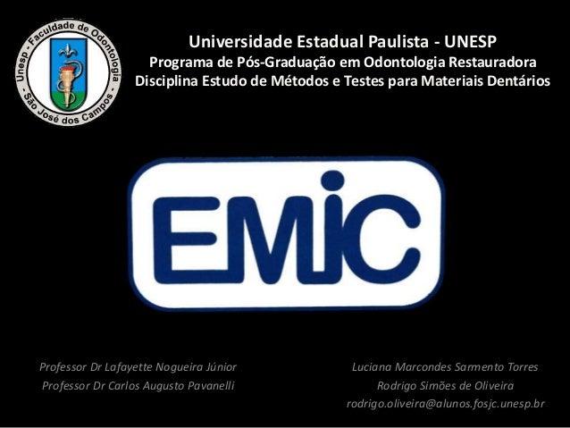 Luciana Marcondes Sarmento Torres Rodrigo Simões de Oliveira rodrigo.oliveira@alunos.fosjc.unesp.br Universidade Estadual ...